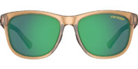brown sunglasses with green lenses