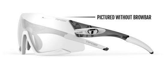 photochromic sunglasses with removeable browbar