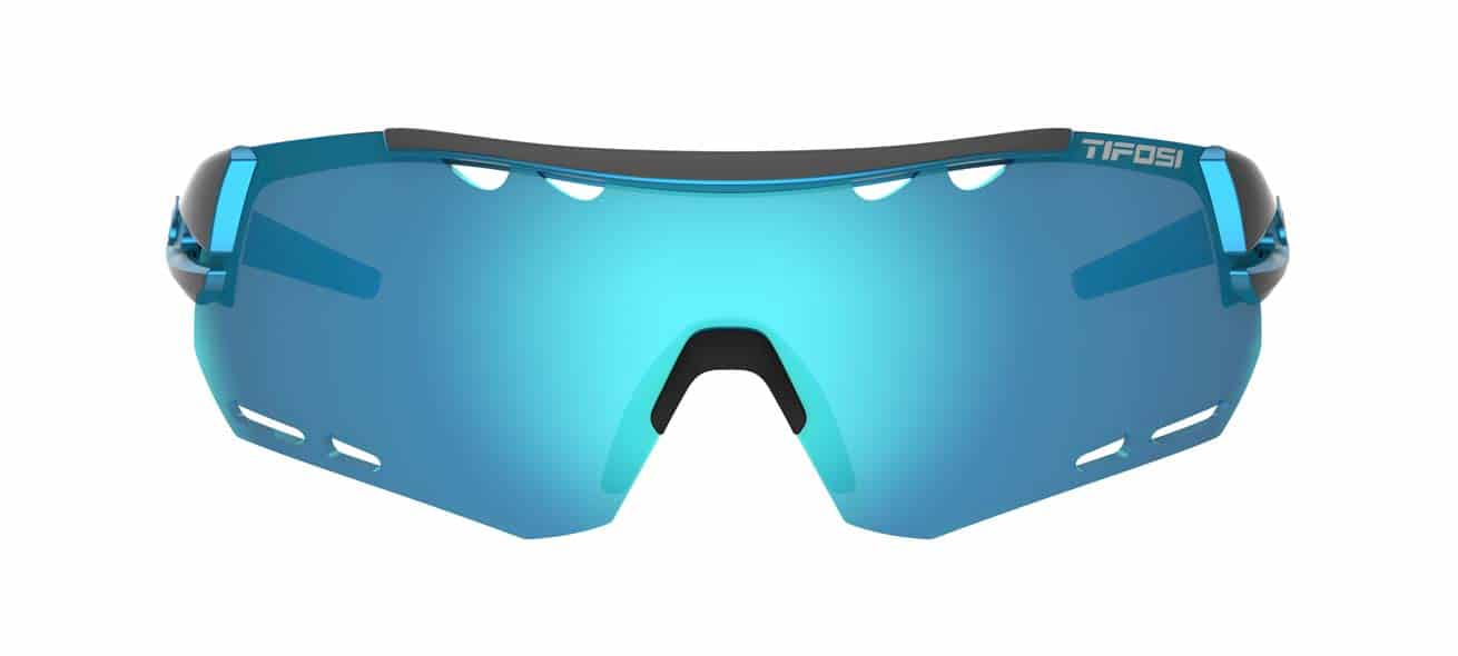 blue sport performance sunglasses