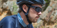 bearded cyclist in sunglasses