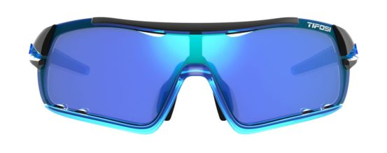 blue cycling sunglasses
