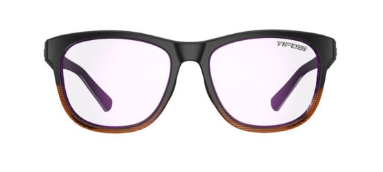 brown frame gaming glasses front