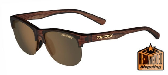 brown woodgrain sport sunglasses