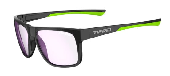 black and neon gaming glasses