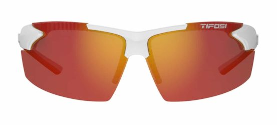 red lens sport sunglasses